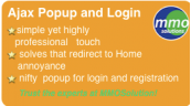 Ajax Popup Login- simple yet highly professional touch