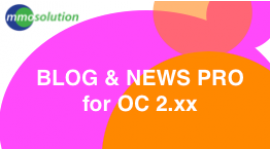 OpenBlog 2.x   --Blog and news for Opencart site