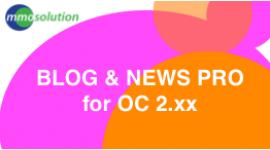 OpenBlog 2.x   --Blog and news for Opencart site