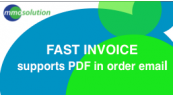 FAST INVOICE supports PDF in order email