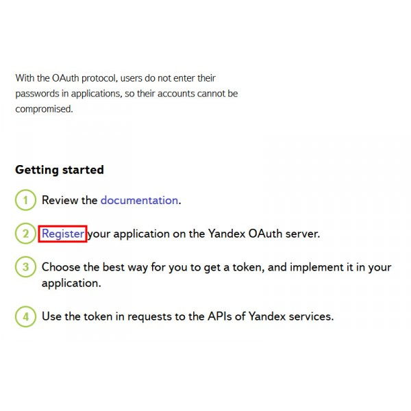 How To Create OAuth Yandex Login Application