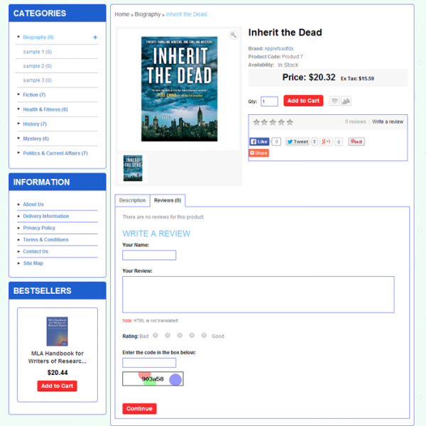 Blue Bookstore Theme