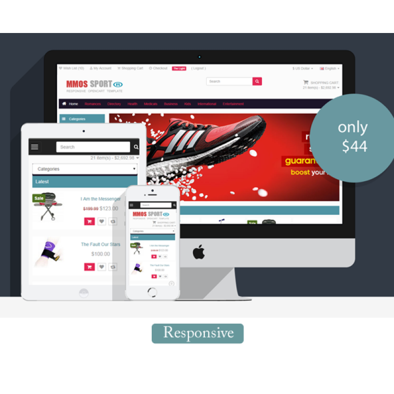 getbootstrap com templates - face sport template for opencart