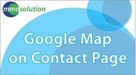 google maps on contact page