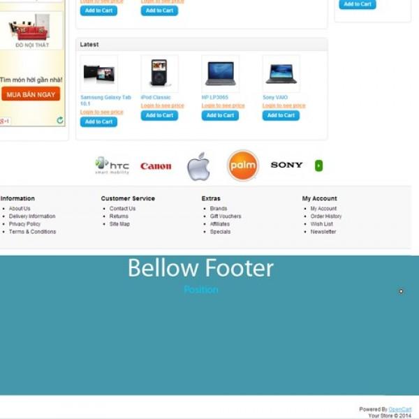 Positon Above Header & Below Footer