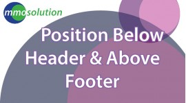 Position Below Header & Above Footer
