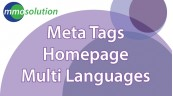 Meta Tags Homepage Multi Languages