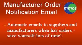 Manufacturer Order Notification Email